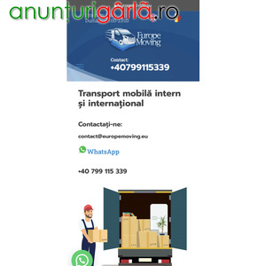 Imagine anunţ Relocari - Transport Mobila Intern si International