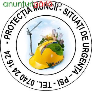 Imagine anunţ Protectia Muncii si PSI