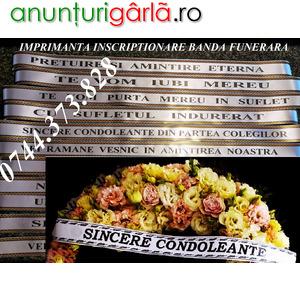 Imagine anunţ Sistem scriere banda decor coroana funerara
